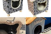 Cat Cottages and accessories