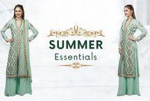 A refreshing aqua green palazzo kurta with aari embroidery