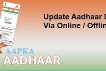 Update Aadhaar Details / Change update your aadhaar card information such name, phone number, address, date of birth, gender etc via online or through post.