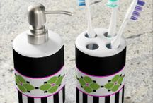 Colorful Bathroom Accessories by SimplyMe Designs