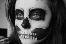 Lovely Bones / Skeleton makeup and costumes