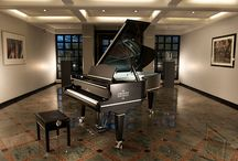 C. Bechstein Sterling grand piano / The C. Bechstein Sterling grand piano is the result of a co-operation between C. Bechstein Pianofortefabrik and the Robbe & Berking silverware manufactory. The silver inlays handcrafted by Robbe & Berking on the C. Bechstein B 212 grand piano generate incomparable light reflections. On this exceptional musical instrument, which integrates more than six kilos of sterling silver, all that glitters is made of the precious metal.
