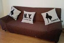 Forro sofá / Se ve el antes y el después del forro del sofá