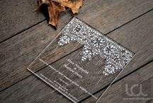 Laser Cut and Engraved Wedding Invitations / Laser cut and engraved wedding invitations, one on Laser Cutting Lab, LLC's specialties!
