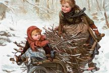 Art - winter and snow. / Art of many artists showing life in the winter season. / by Jenni Jordan