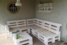 pallet bank tuin