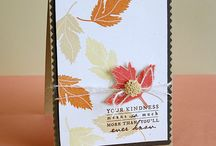 Handmade Cards: Thanksgiving & Fall / Handmade cards for Thanksgiving & Fall / by Steph @ Silver Boxes