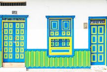 Colorful Doors of Salento, Colombia