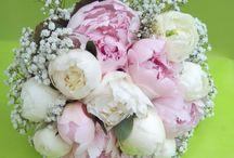 bouquet de mariée pivoines