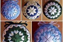 Vánoční koule patchwork