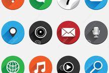 app icons/ice cream bord