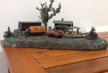 Train diorama ho / trains, modelism