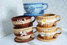 чашки,самовары плетеные