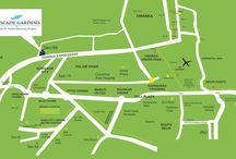 Cosmos Cascade Gardens Gurgaon location map