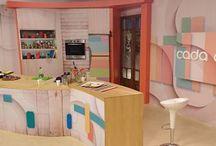 Puesta en escena programa Cada Dia, Mendoza / Diseño y construcción artesanal para Cada Día, canal 9 Televida.