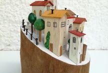 Handmade wooden decoratives