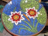 Mosaic Birdbaths / Feeling inspired to create a mosaic?  Use PromoCode PIN5 to save 5% off all of your handcut, stained glass tiles at www.MosaicTileMania.com. / by Mosaic Tile Mania