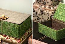 caixas forradas lindas
