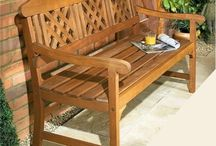 3 Seater Wooden Bench Garden Patio Outdoor Furniture Hard Wood Back Yard Seat
