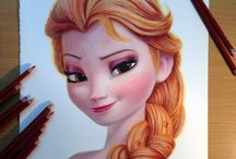color pencil characters