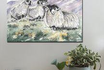 Farm Animals / Canvas art prints, A1 and A2  www.splashyartystory.com