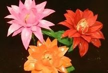 Flowers from plastic -Λουλούδια από χαρτί