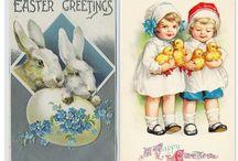 Lente/Pasen: vintage plaatjes