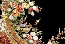 kimono.  Japan Tabane-noshi 着物 束熨斗 / Tabane-noshi (ribbon bundle) is Japanese traditional mark (pattern).