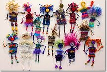 wooven pin dolls