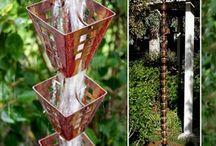 Bricolage | Chaîne de pluie / De nombreuses inspirations autour de la chaîne de pluie pour égayer un peu plus votre jardin.