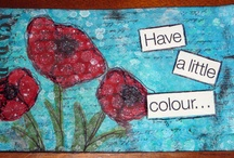 Inspirational ICAD / Index Card a Day Inspiration board