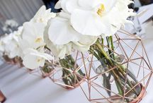 geometryczne dekoracje weselne