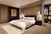 Master bedrooms with walk in/through closet