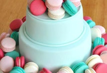 Pretty macaron cakes / Gorgeous bakes decorated with macarons,  perfect for a special birthday