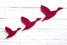 Ceramic flying ducks