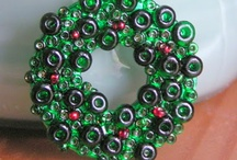 Wreath / Recycled glass bottles