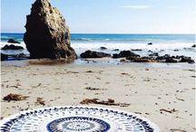 Cerviette de plage ronde♥