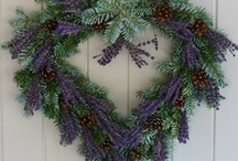 Wreaths / I love, love, love wreaths. I think they totally brighten a room.