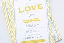 Weddings / Programs / Inspiration for wedding programs!