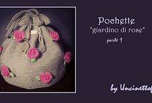 """Pochette """"giardino di rose"""""""