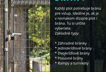 Propagácia plotov a brán / Bannery, obrázky, propagačné materiály k plotovým systémom a bránam.