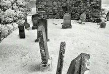 Graveyards, where the dead speak / Beauty reborn from pain / by Billie Haga