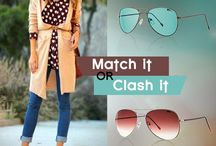 MatchItorClashIt / Select the pair of sunglasses to go best with your outfit.