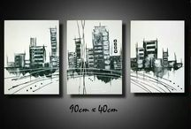 Eigene Bilder Abstrakt Acryl auf Leinwand / Abstrakt