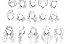 Hair - Ref / Reference drawing/guides for hair