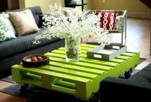 Mesas y mesas auxiliares de palets / Mesas de salón, mesas de comedor y mesitas auxiliares