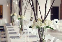 Huwelijk - tafel decoratie