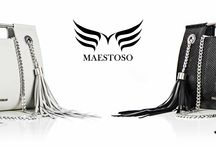 MAESTOSO - Luxury leather bags / The ideology behind our brand focuses on the use of prestigious materials and iconic details, transforming Maestoso products into timeless luxury goods.
