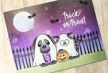 Halloween Cards - Gerda Steiner Designs / Find fun and adorable inspiration for handmade Halloween Cards using Gerda Steiner Design Stamps. Nothing scary of course, just really cute.