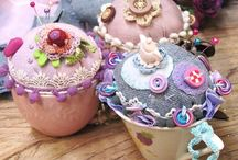 pincushions / by Peggy Lewis
